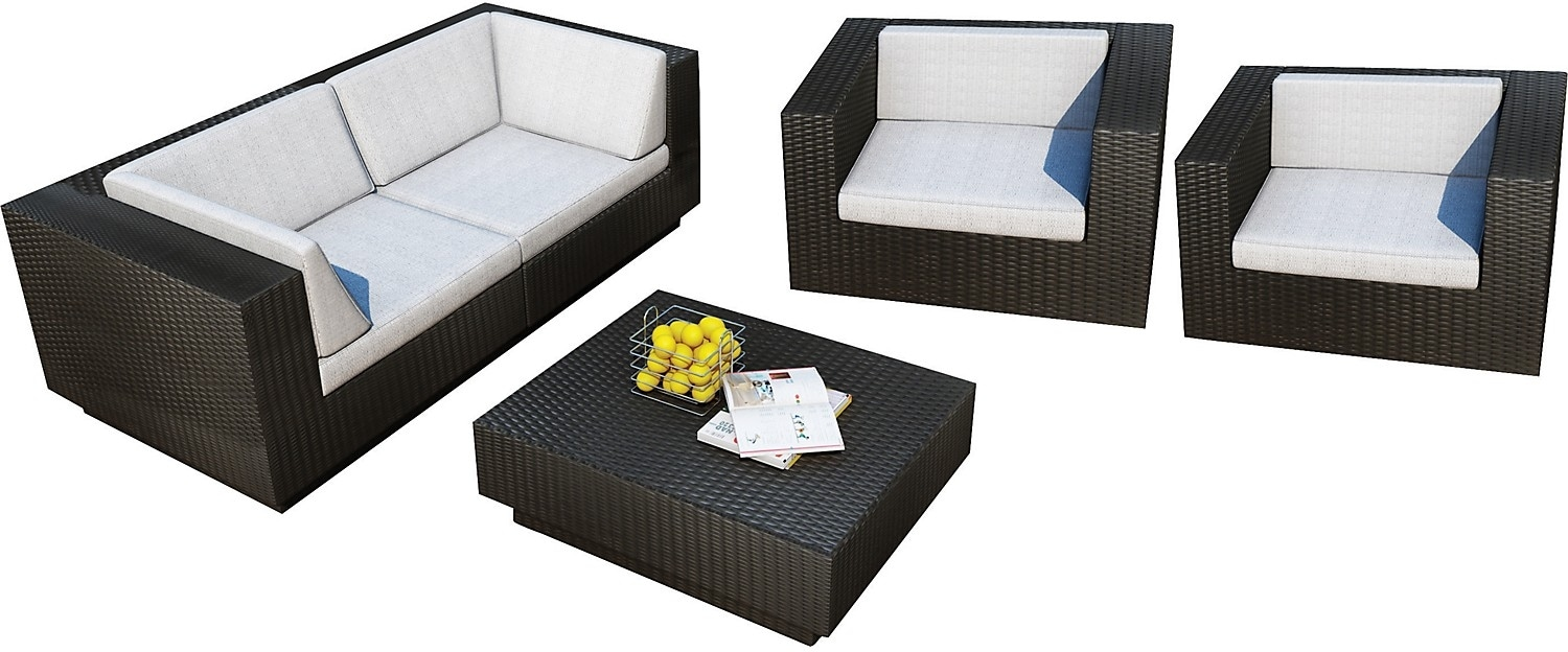 Outdoor Furniture - Parkview 5 Piece Patio Sofa Set - Black