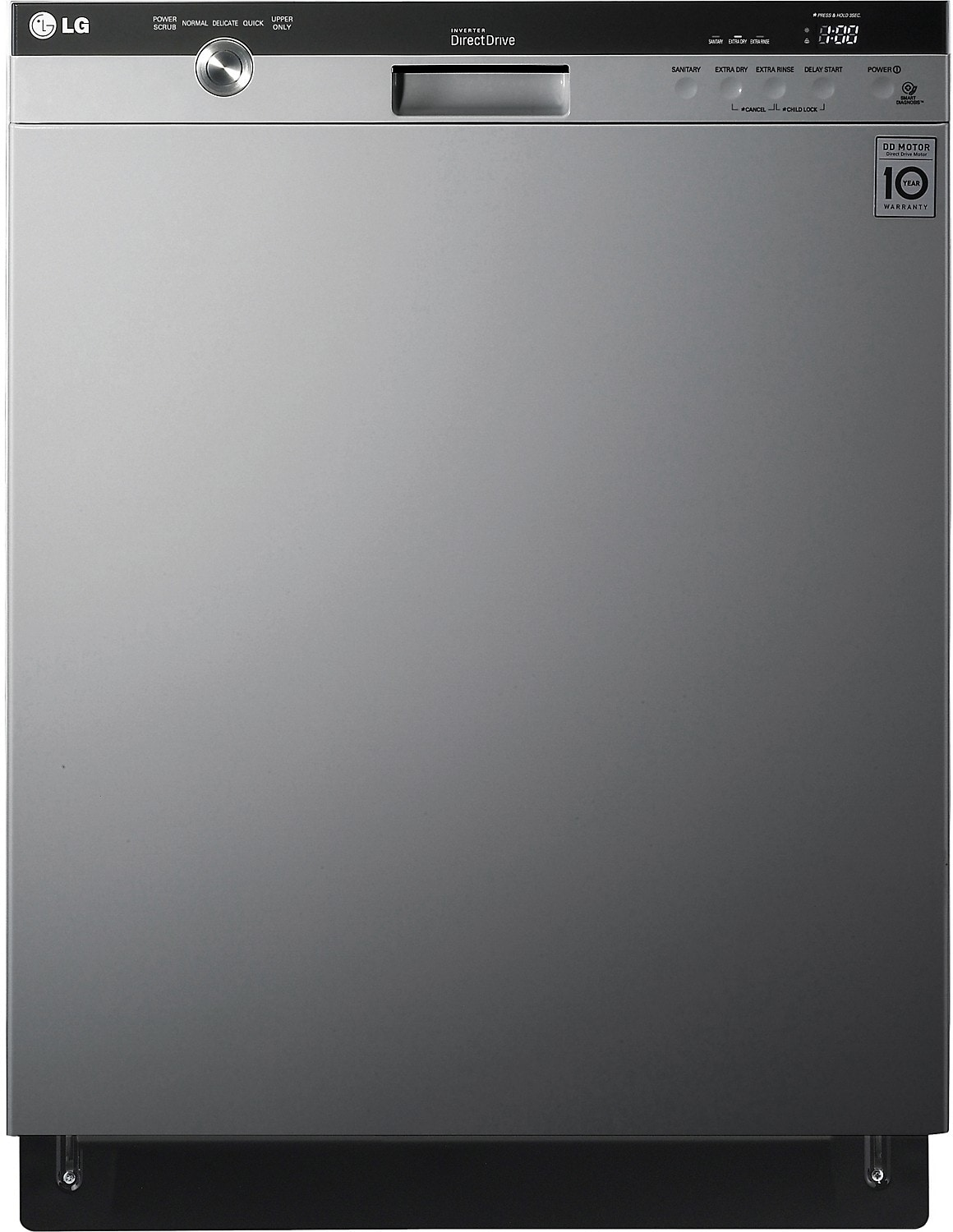 "LG 24"" Semi-Integrated Dishwasher with EasyRack™ Plus System - Stainless Steel"