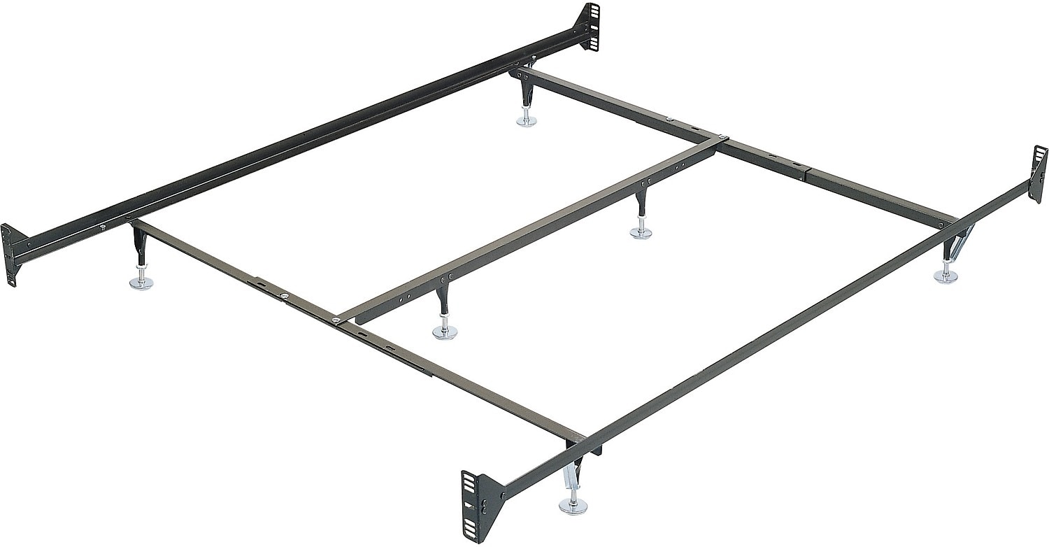 queen metal glide bedframe w headboardfootboard attachment