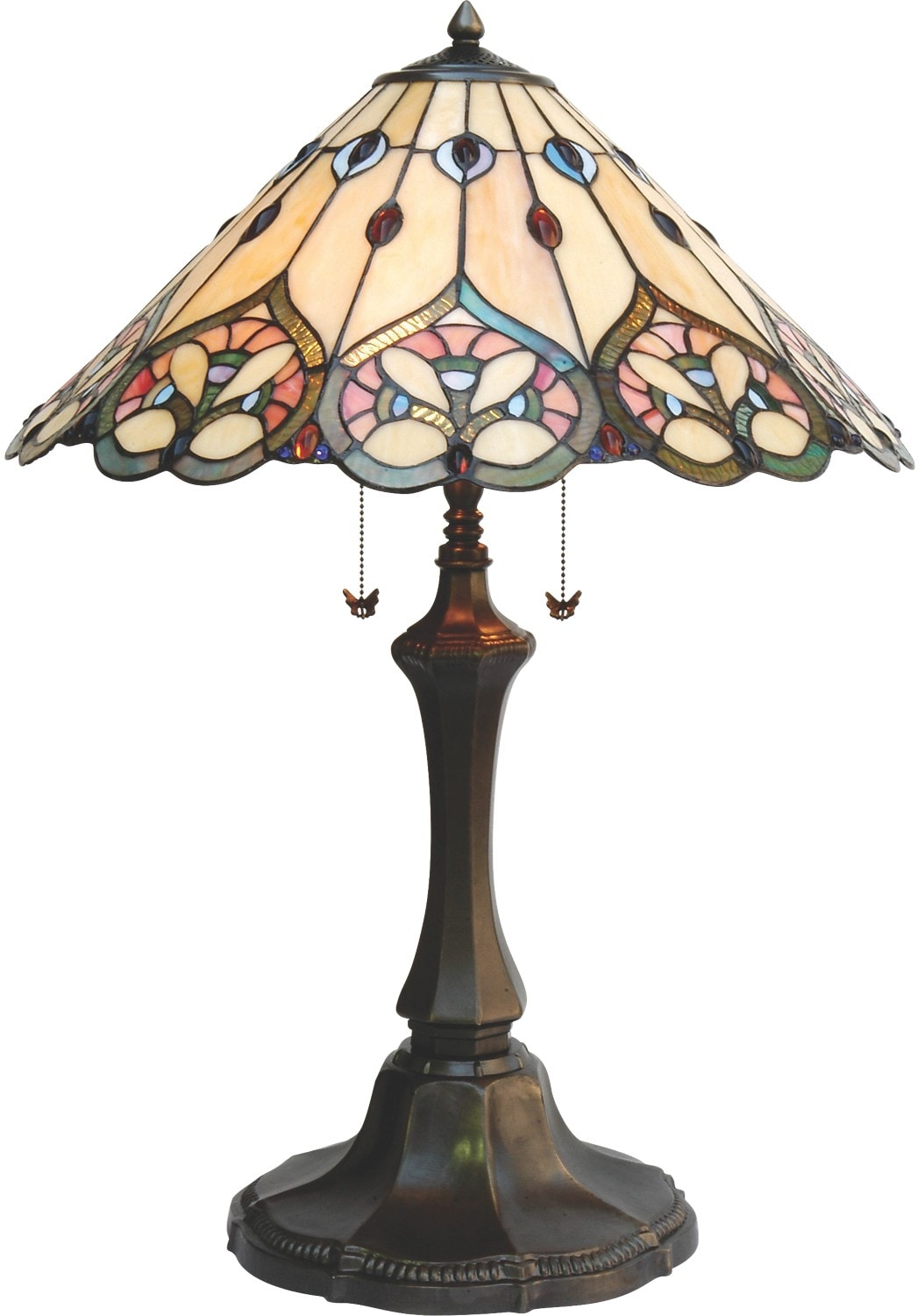 Cairo Tiffany-Style Table Lamp with Stained Glass Shade