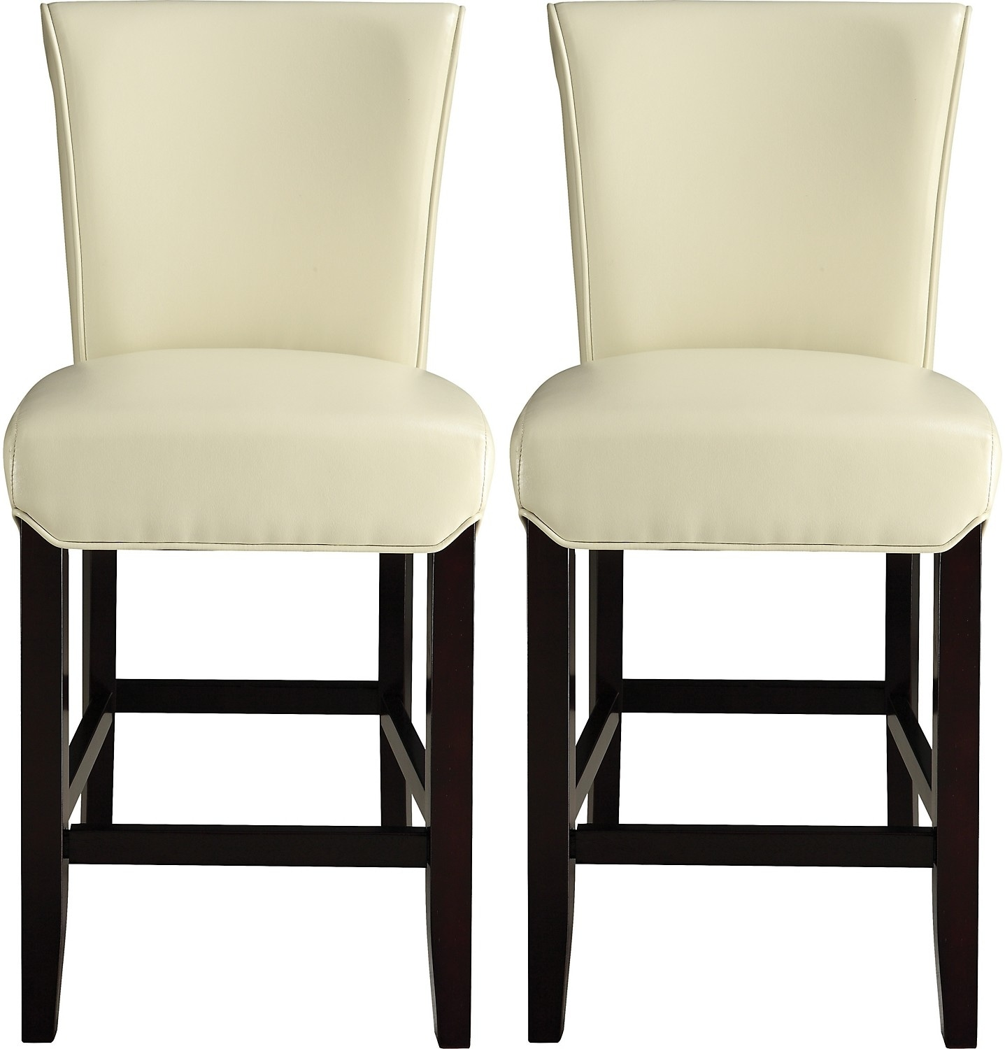 Dining Room Furniture - Brogan Counter-Height Dining Stool Set of 2 – Ivory
