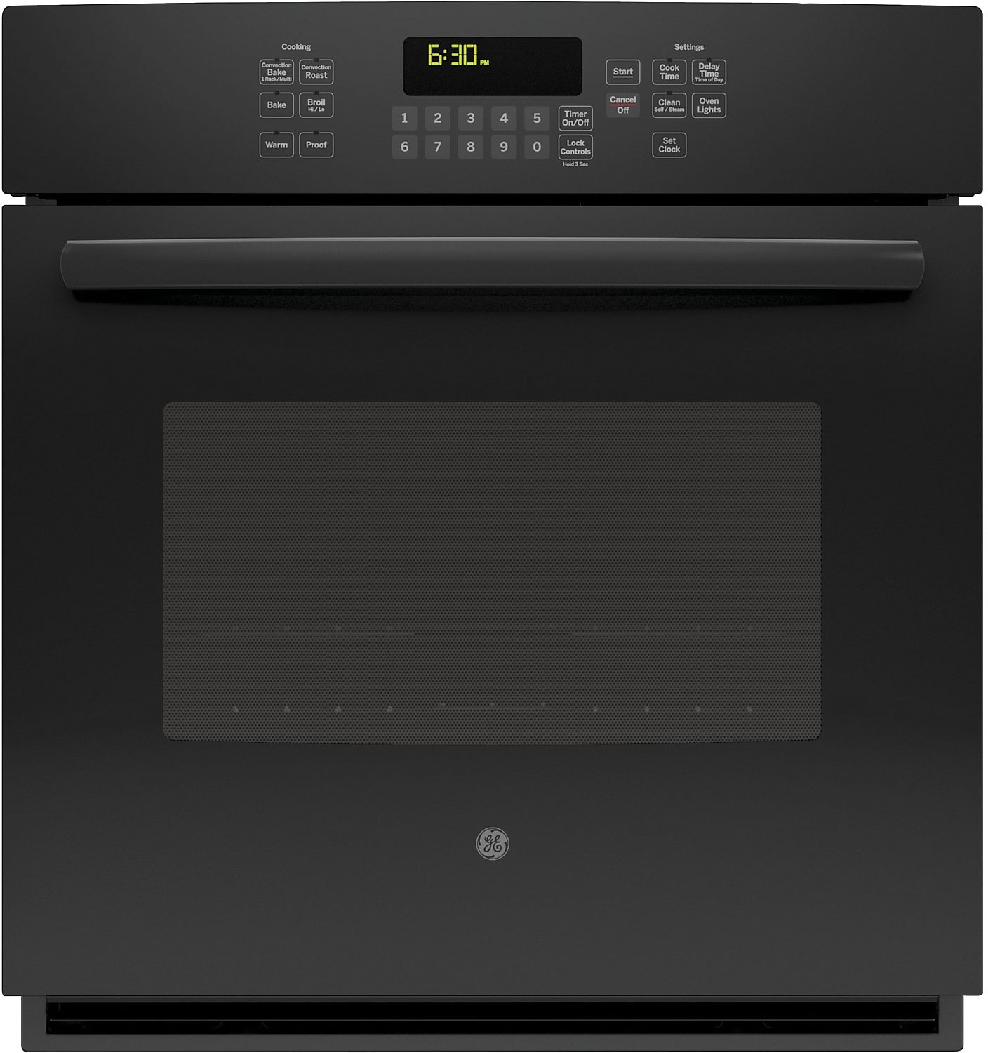 "Cooking Products - GE 27"" Electric Convection Single Wall Oven – Black"