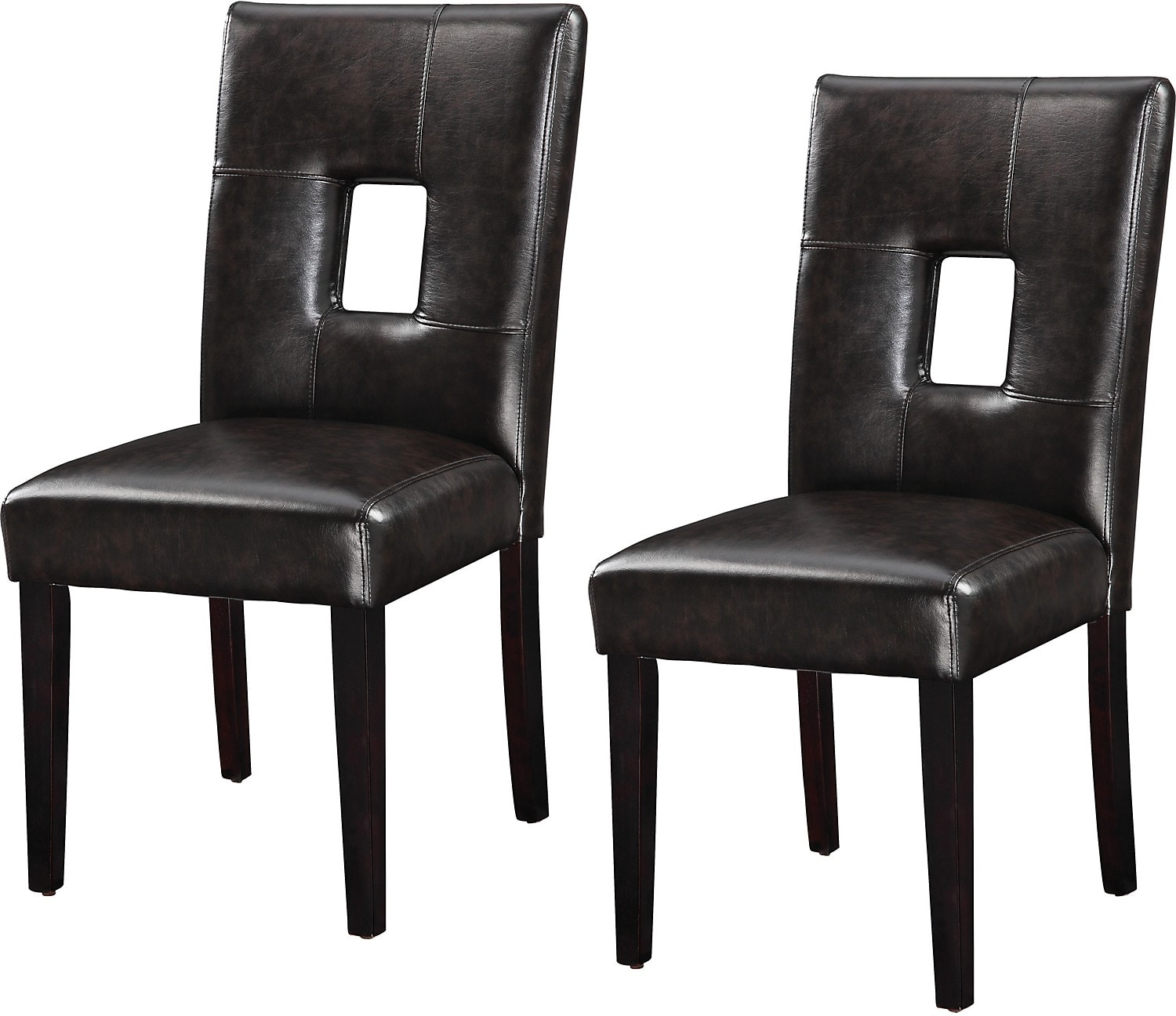 Dining Room Furniture - McKenna 2-Piece Brown Dining Chair Set