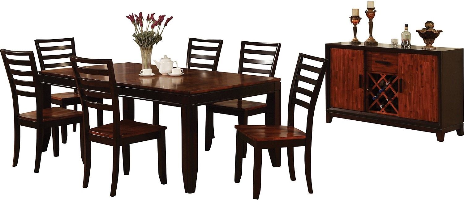 Dining Room Furniture - Zara 8-Piece Dining Package