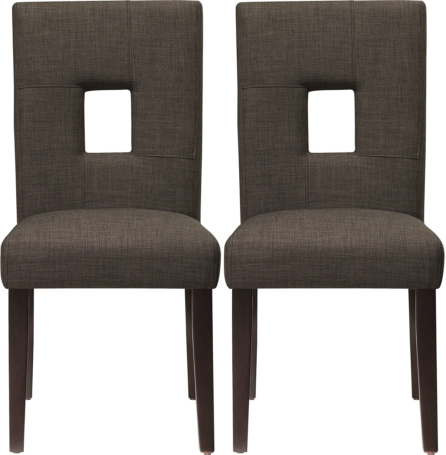 Dining Room Furniture - McKena 2-Pack Linen Dining Chair – Grey