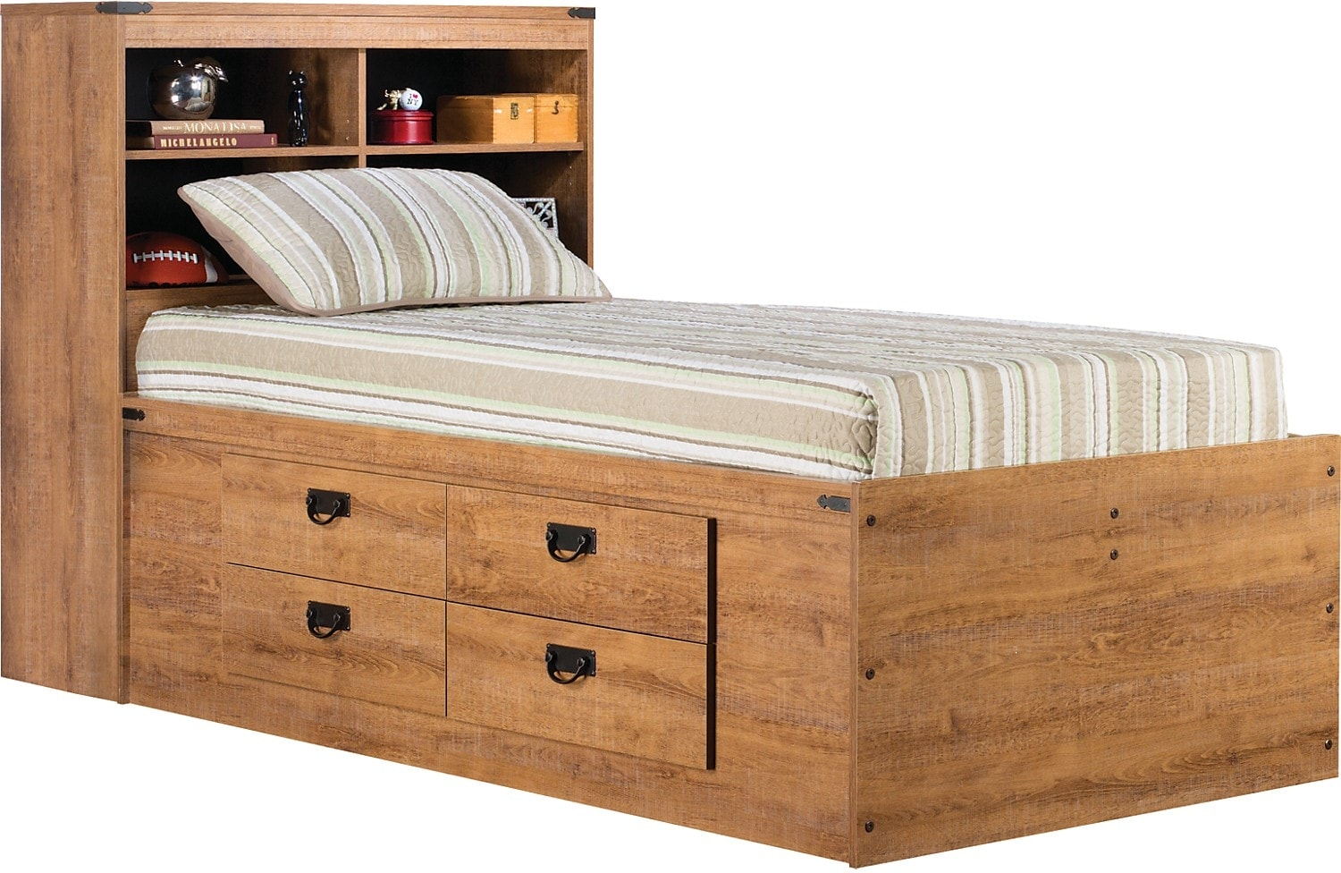Driftwood Captains Bed