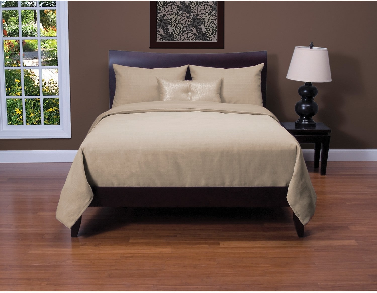Accent and Occasional Furniture - Belfast Flax 4 Piece Full Duvet Cover Set