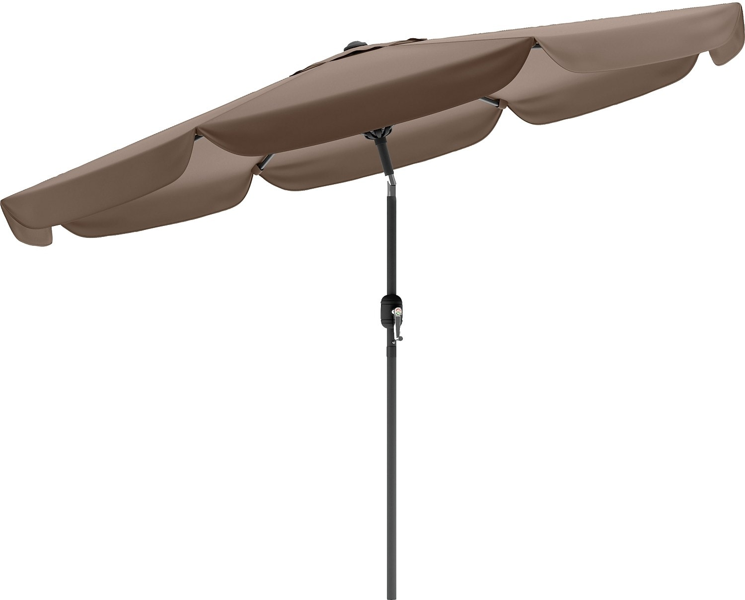 Tilting-Top Patio Umbrella – Sandy Brown