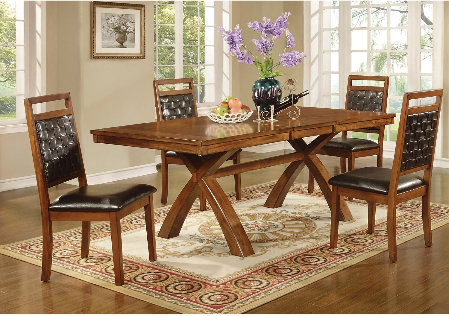 The Brick Dining Room Sets Mindy 7 Piece Dining Package The Brick