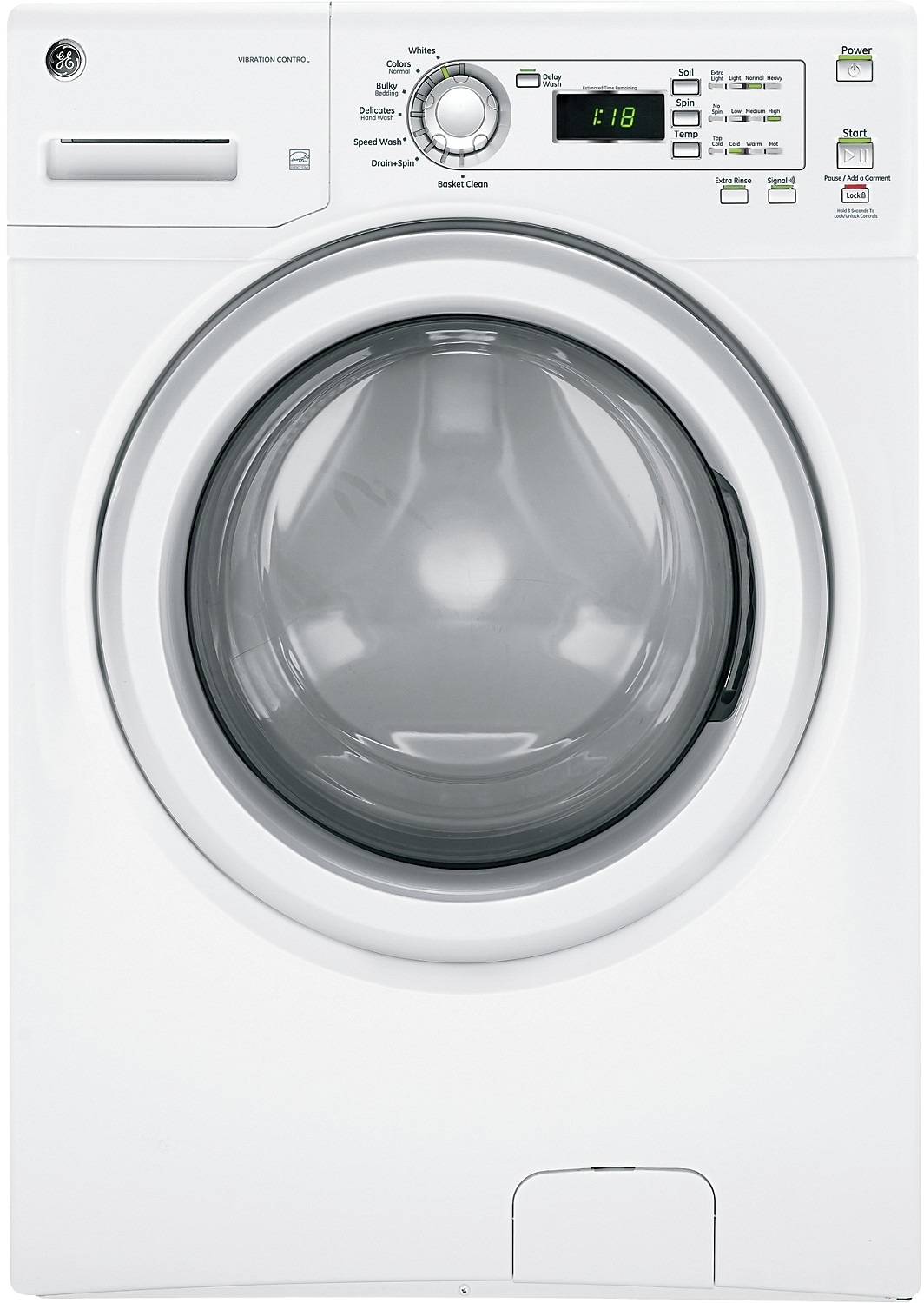 Washers and Dryers - GE 4.2 Cu. Ft. High-Efficiency Front-Load Washer - White