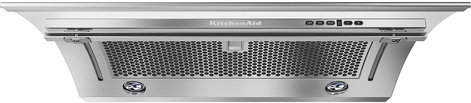 "Cooking Products - KitchenAid 30"" Slide-Out Ventilation Hood – Stainless Steel"