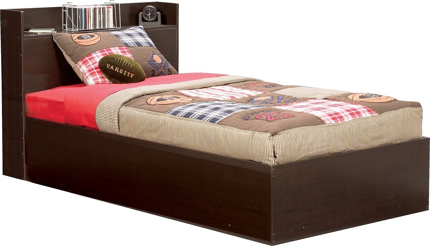 Big league twin mates bed united furniture warehouse for Youth furniture