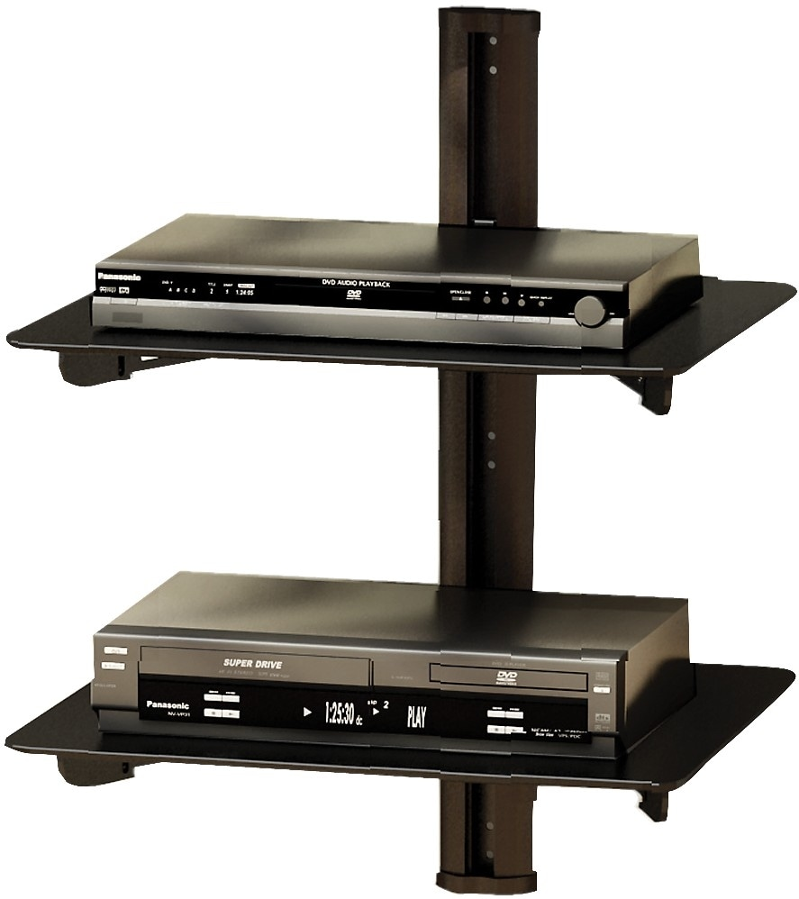 sonax wall mount component shelf black the brick. Black Bedroom Furniture Sets. Home Design Ideas