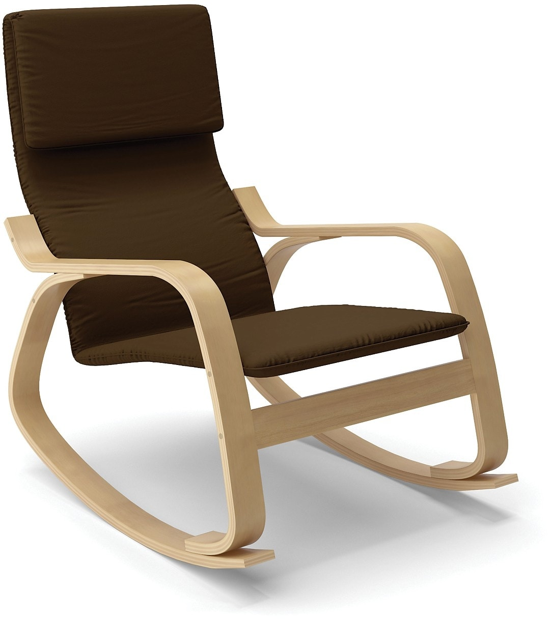 Living Room Furniture - Volo Contemporary Rocking Chair – Coffee