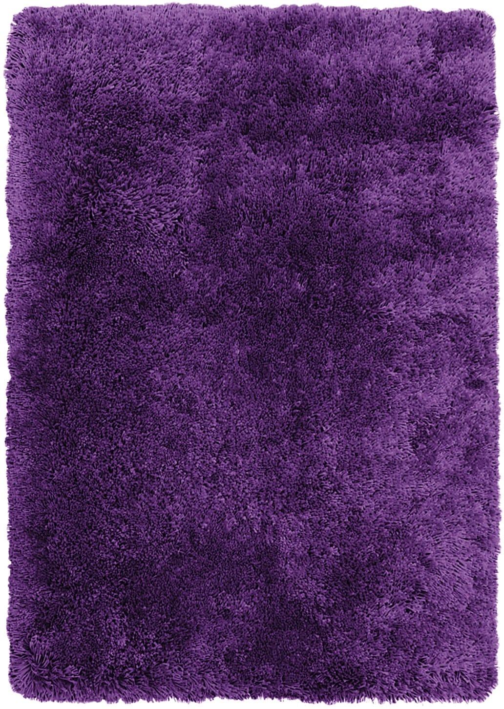 Tapis - Carpette à poil long tendance violette - 4 pi x 5 pi