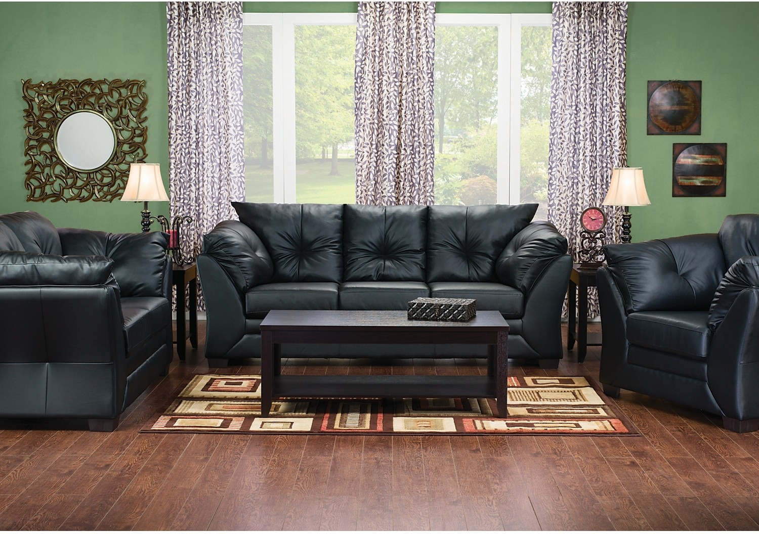 Leather Chair Living Room Max Faux Leather Sofa Black The Brick