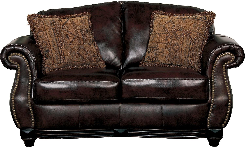 Prestige 100% Genuine Leather Loveseat - Brown