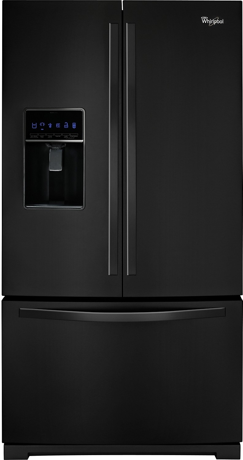 Refrigerators and Freezers - Whirlpool 26 Cu. Ft. French Door Refrigerator - Black