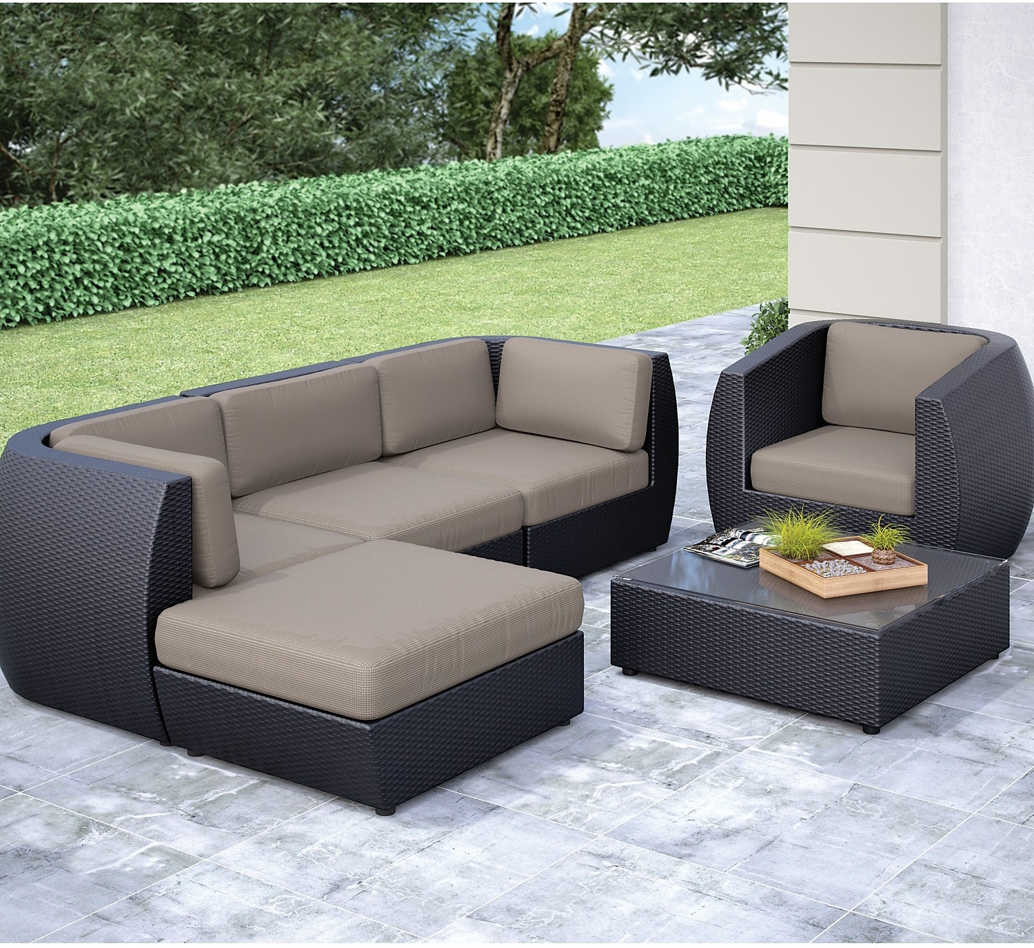 Seattle conversation patio set sectional the brick for Furniture in tukwila