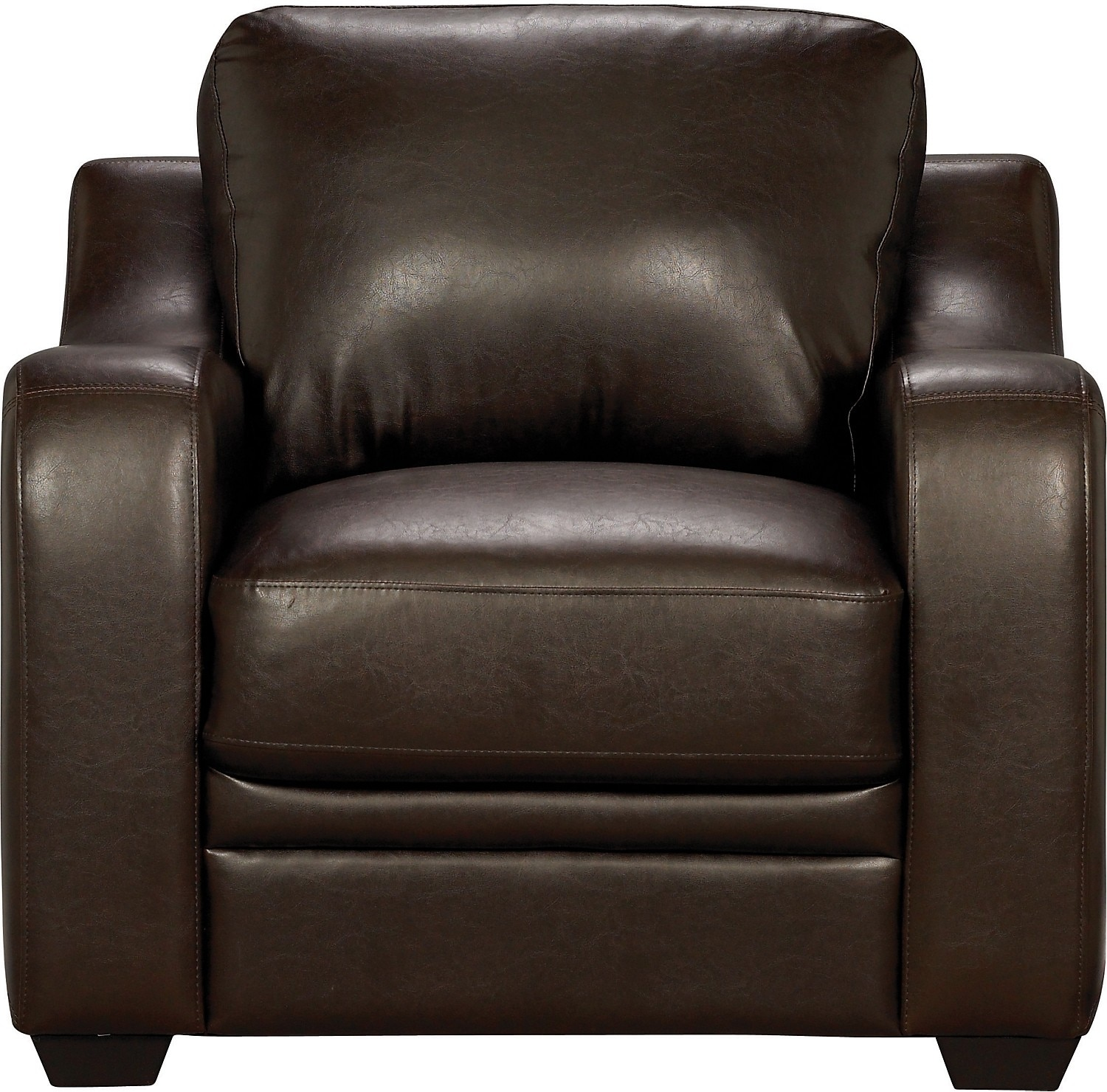 Chase Brown Faux Leather Chair