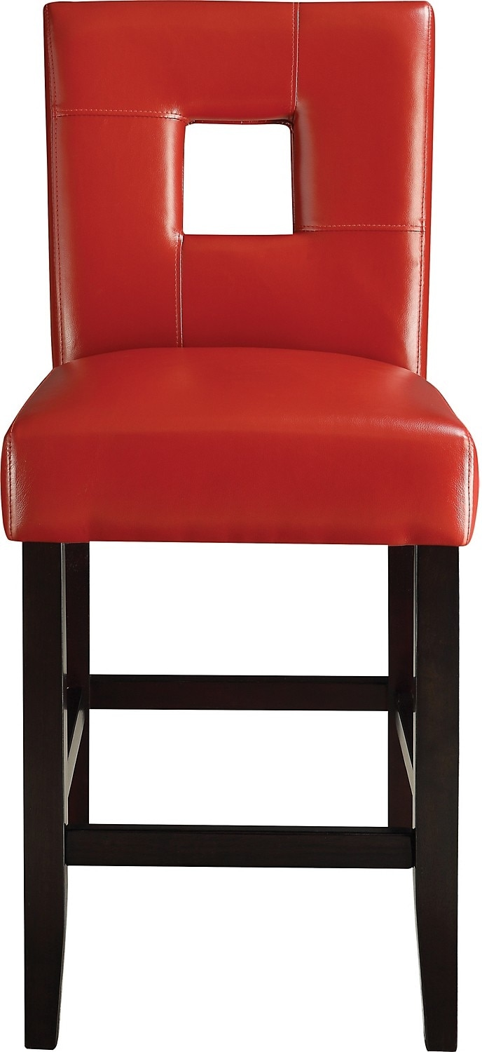 Dining Room Furniture - McKena Counter-Height Dining Chair – Red