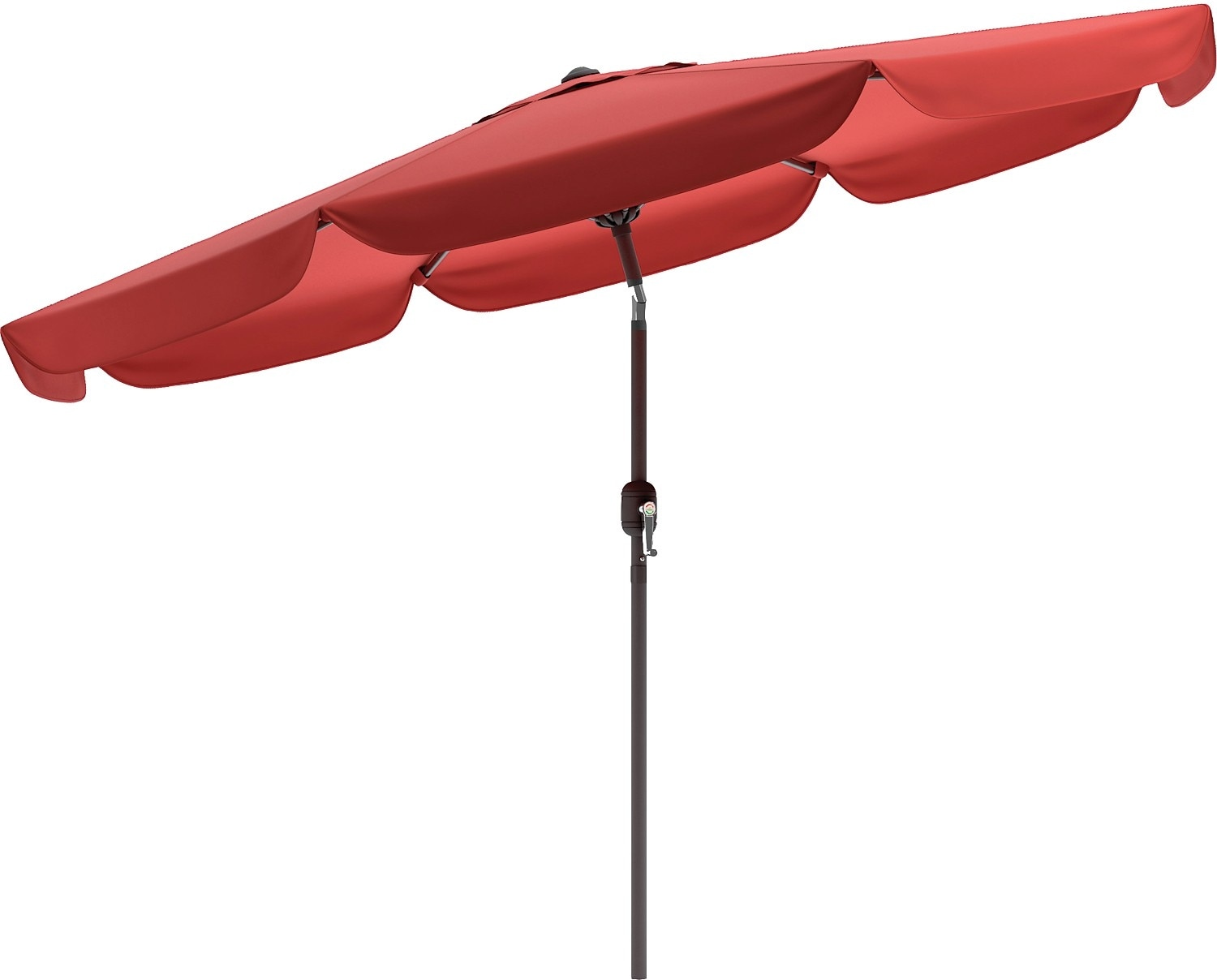 Outdoor Furniture - Tilting-Top Patio Umbrella – Wine Red