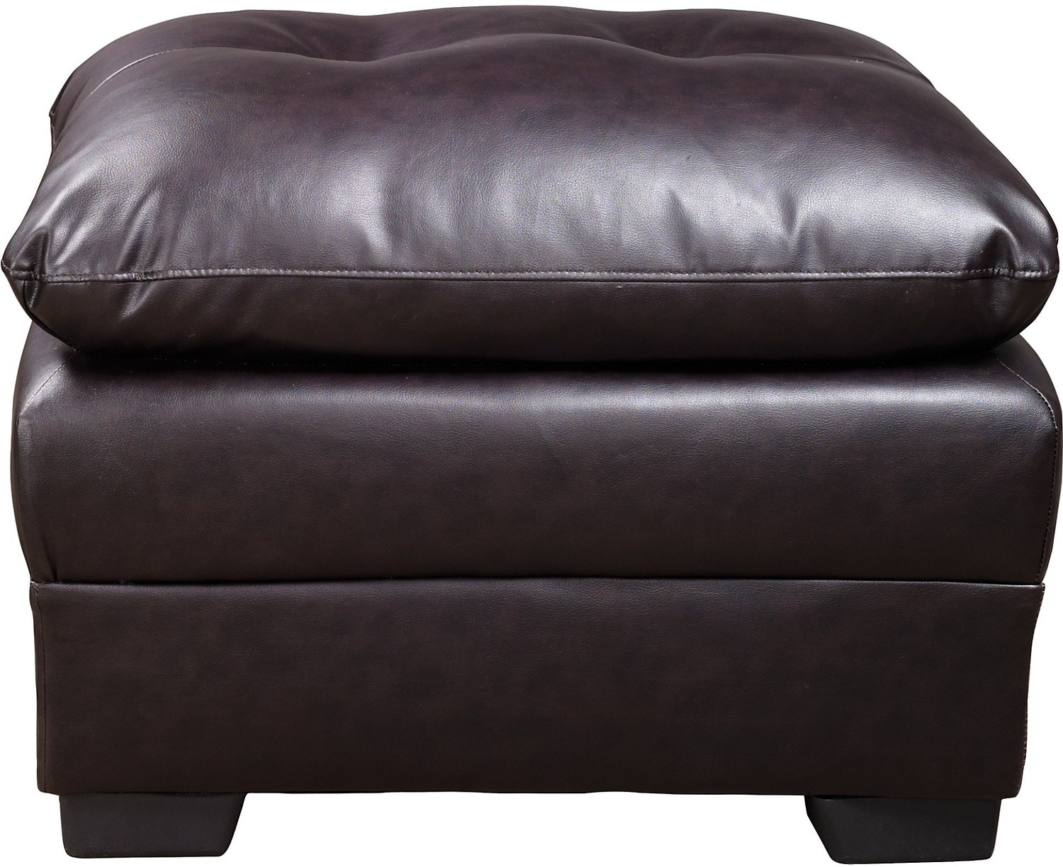 Living Room Furniture - E6 Brown Bonded Leather Ottoman