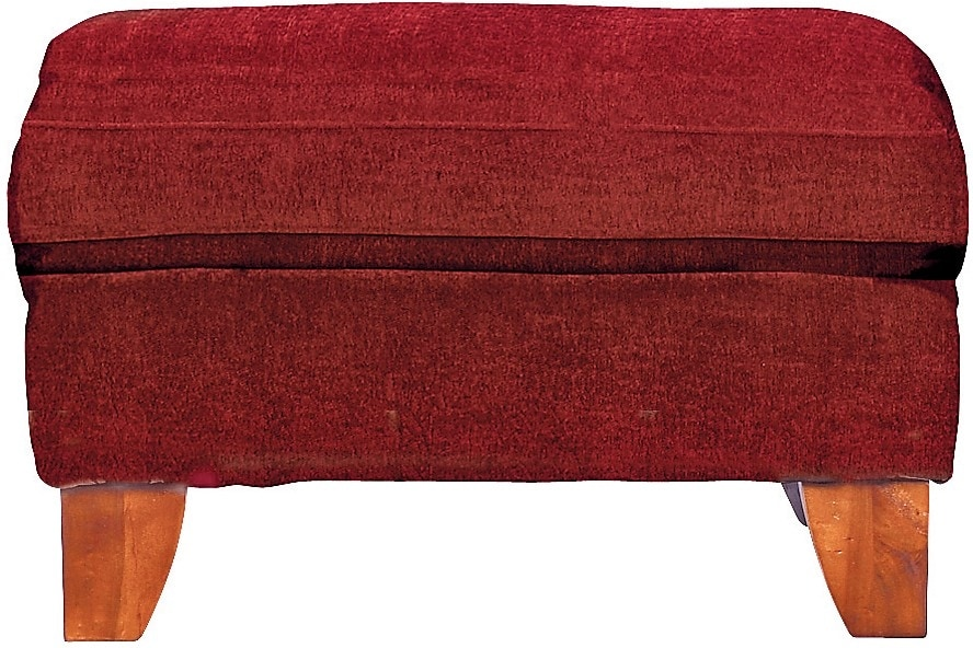 Living Room Furniture - Reese Chenille Ottoman – Red