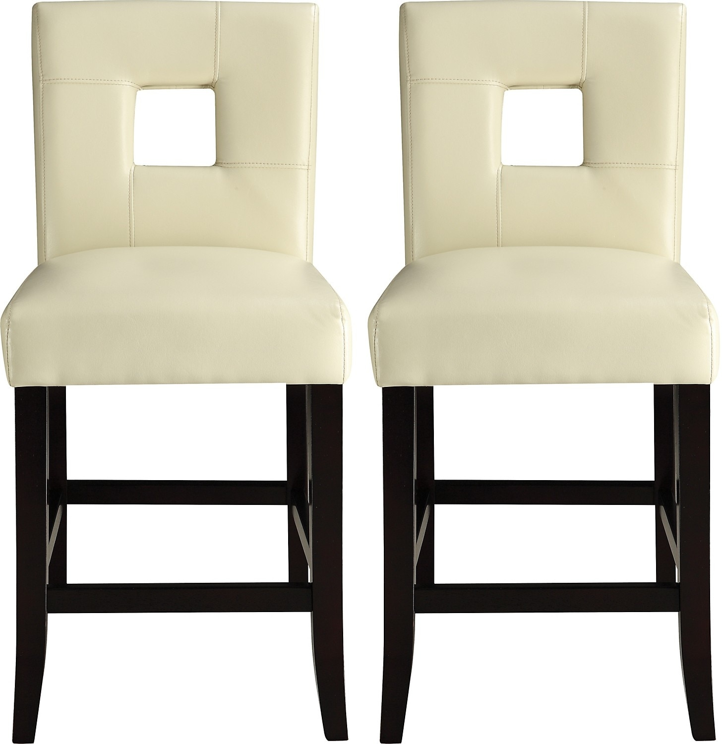 McKenna 2-Piece Counter-Height Dining Chair Package – White