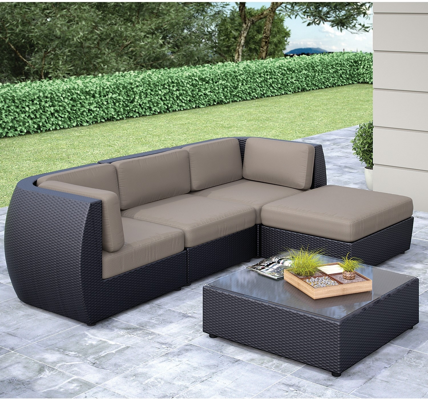 Outdoor Furniture - Seattle Sofa, Ottoman and Table Set