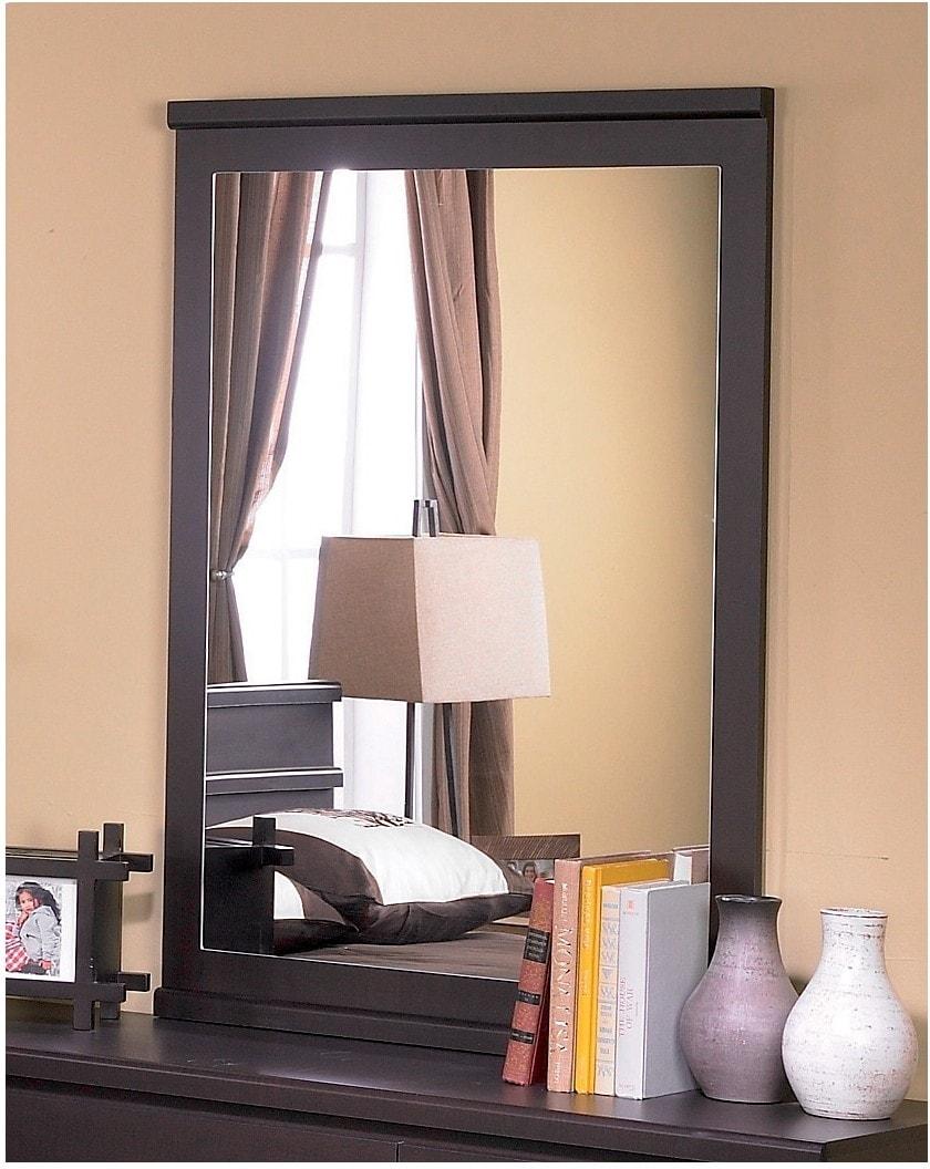 Bedroom Furniture - Dark Saddle Birch Mirror