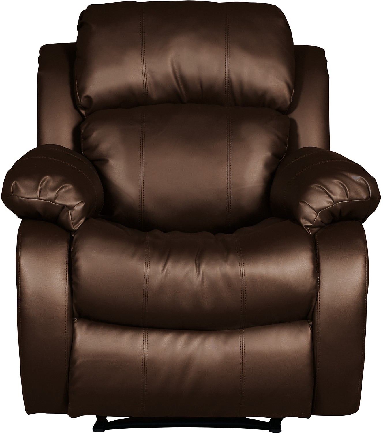 Living Room Furniture - Omega 2 Bonded Leather Reclining Chair – Brown
