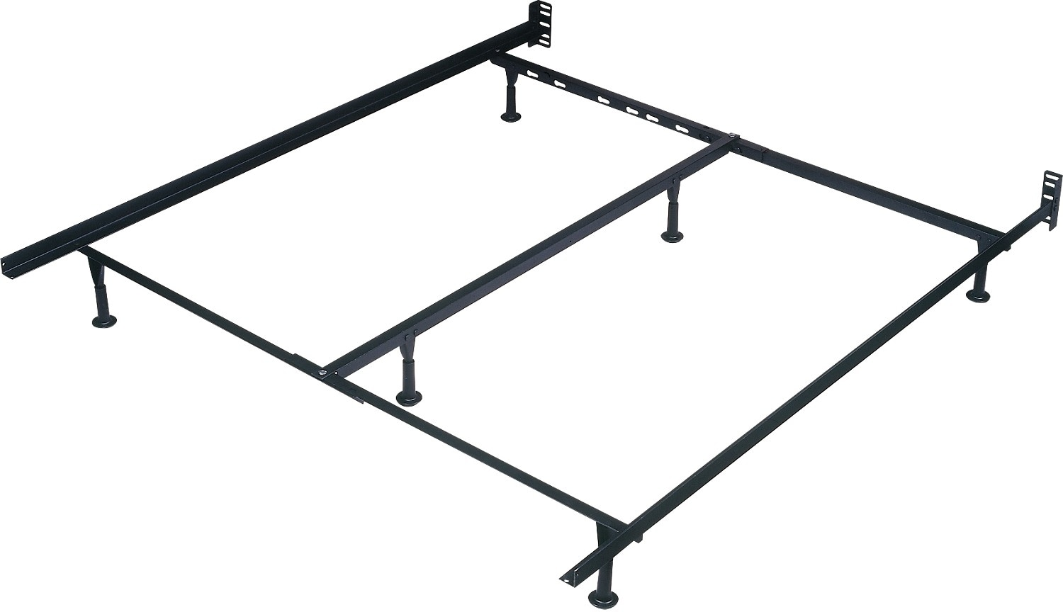Steel Bed Frames Queen Metal Bed Frames Queen Size Extra: Extra Long Deluxe Twin / Full / Queen Glide Bedframe