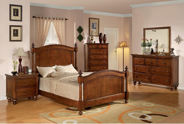 Bedroom Furniture - Kennedy 7-Piece Queen Bedroom Package