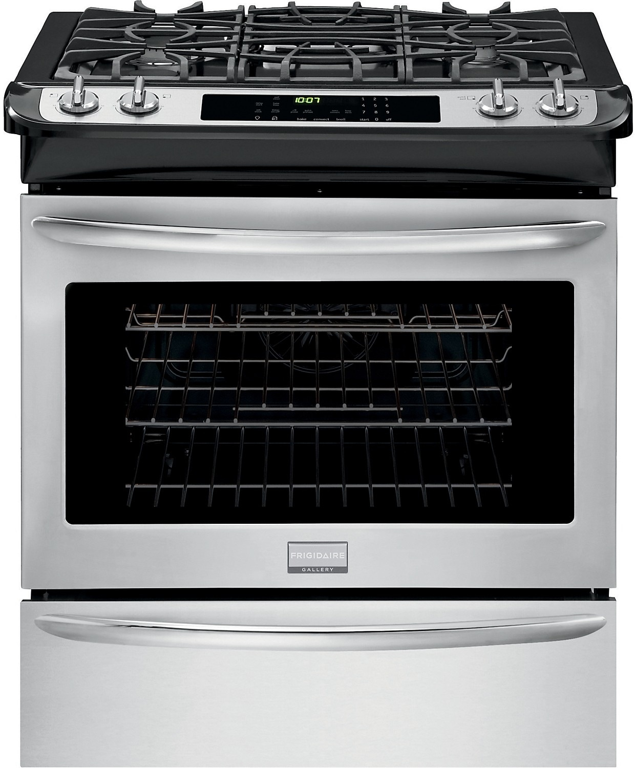 "Cooking Products - Fridigaire Premier Gallery 30"" Slide-In Gas Range – Stainless Steel"