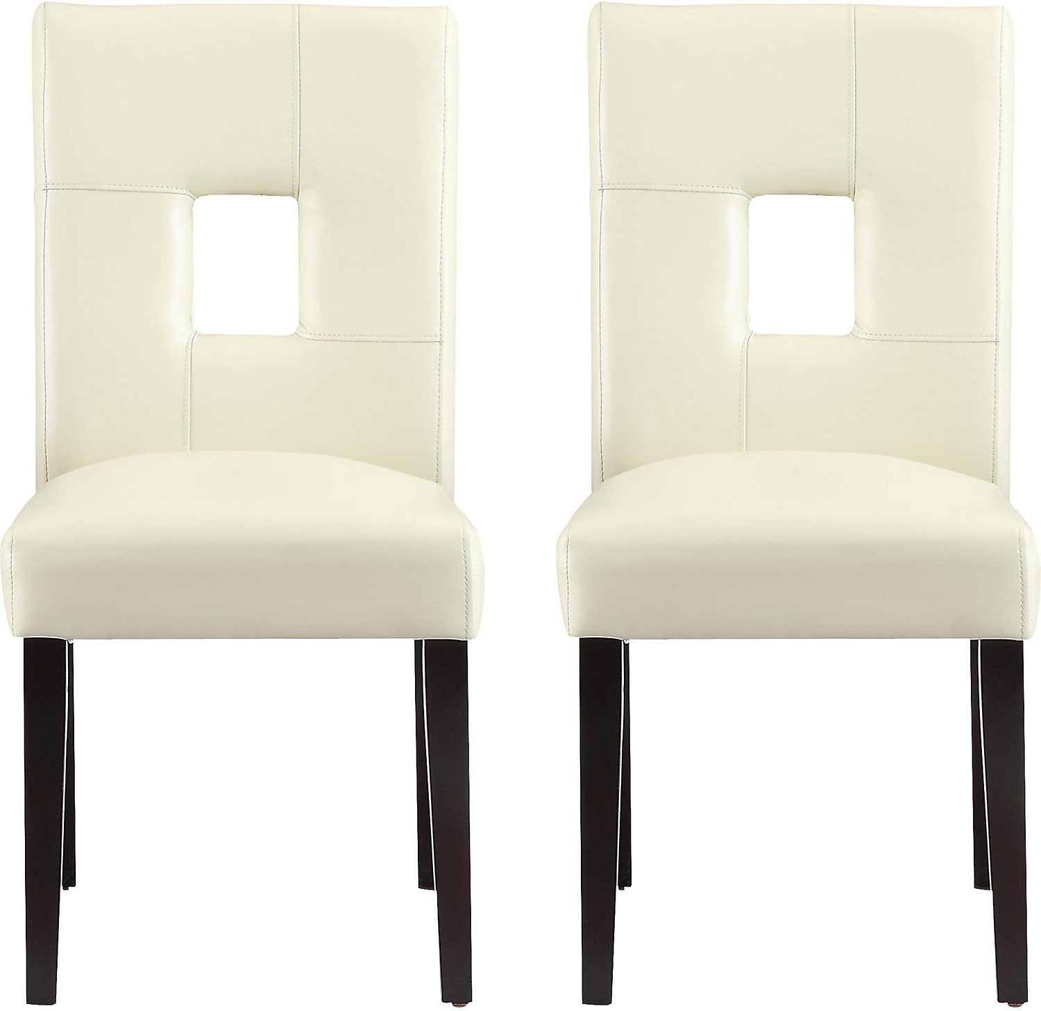 Dining Room Furniture - McKenna 2-Piece Dining Chairs - White