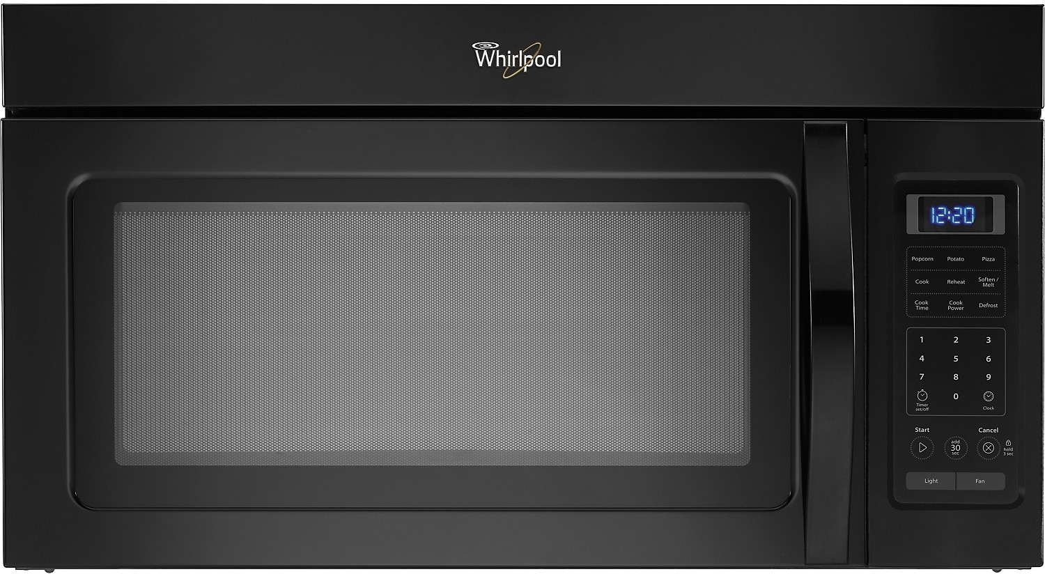 Cooking Products - Whirlpool 1.7 Cu. Ft. Over-The-Range Microwave - Black