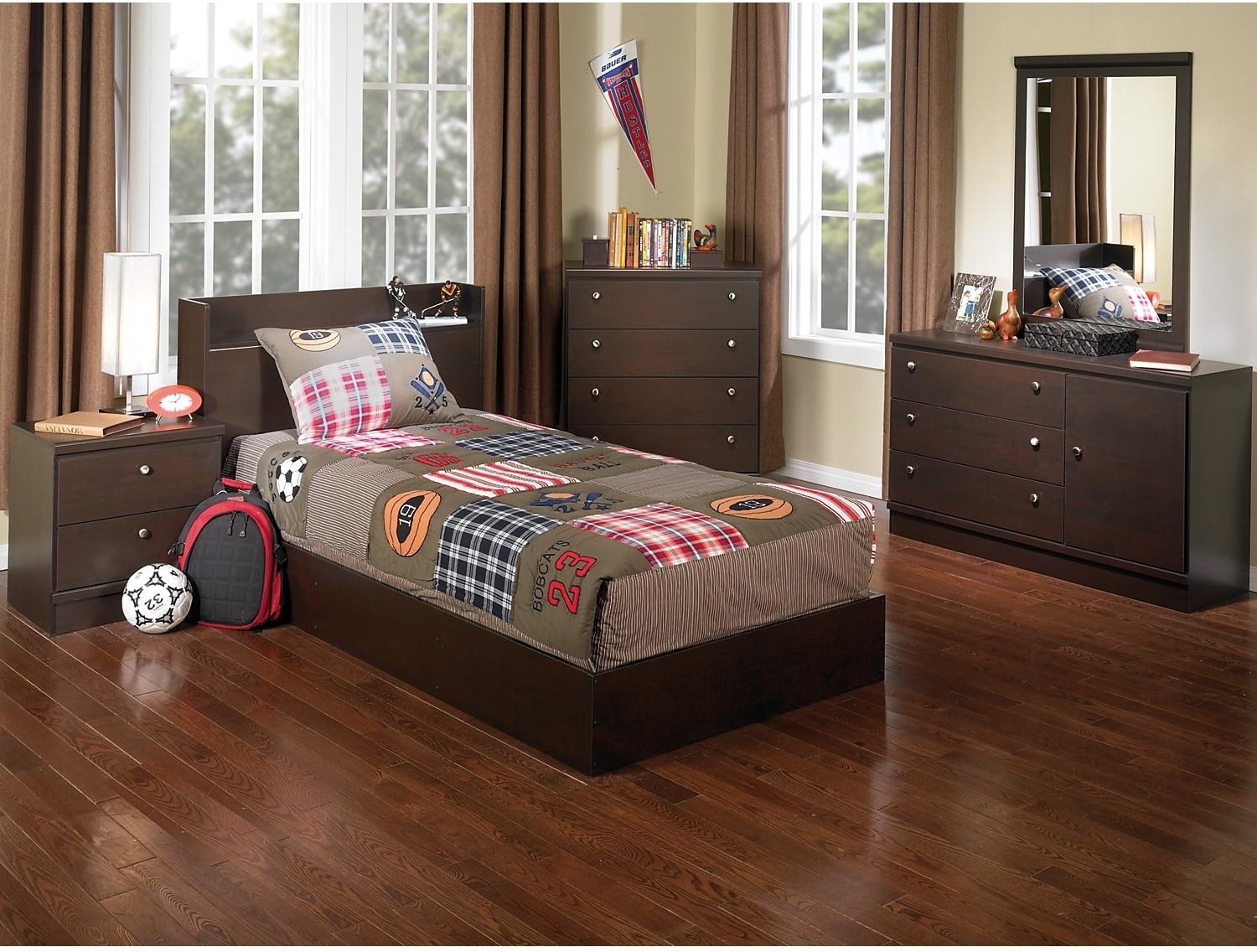 Kids Furniture - Big League 6-Piece Bedroom Package