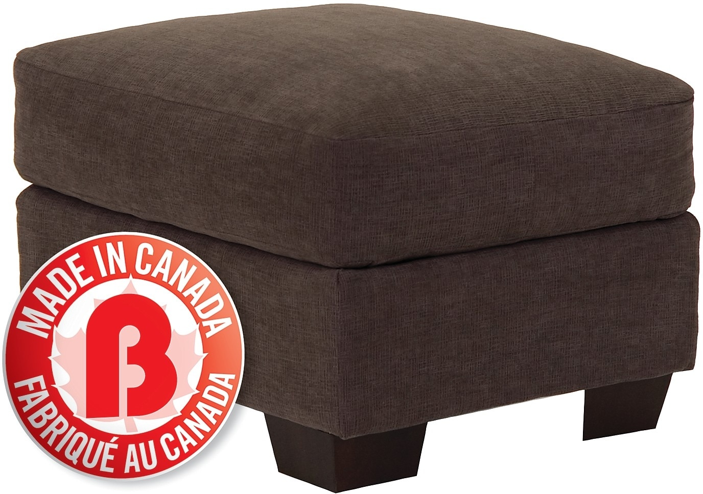 Spa Collection Chenille Ottoman – Charcoal