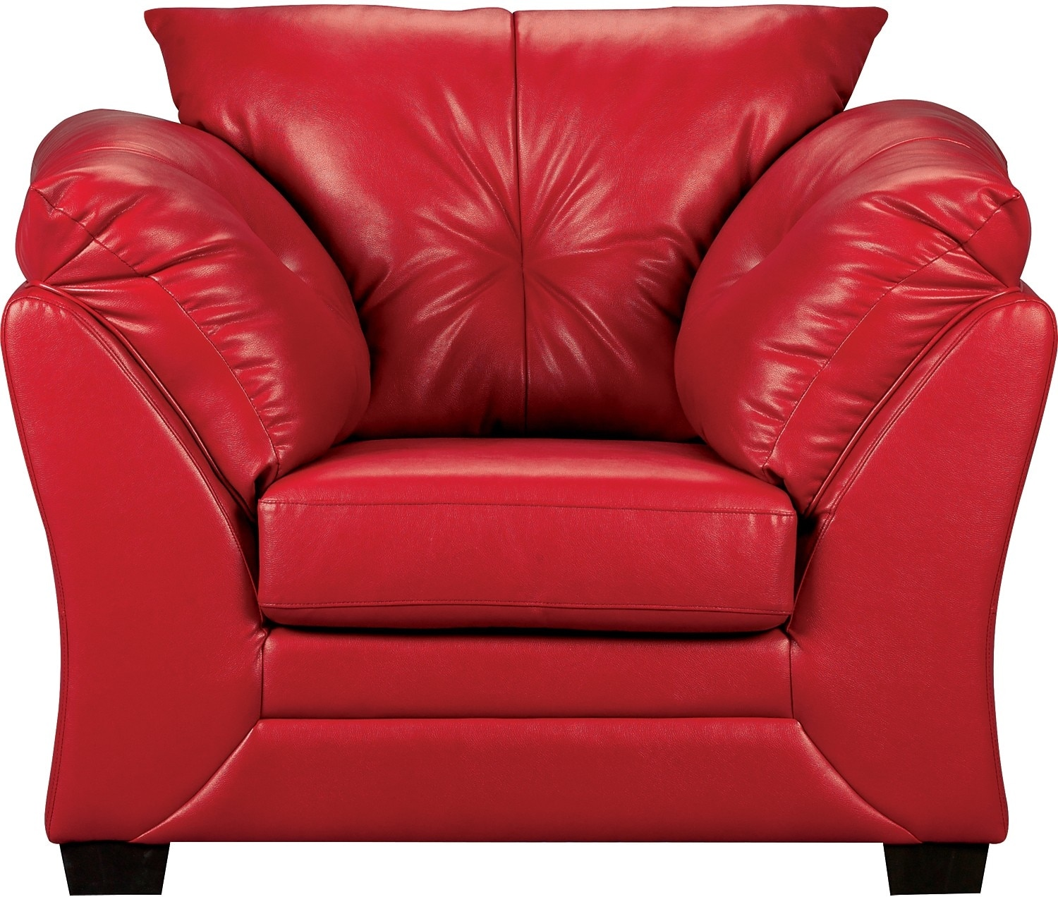 Max Faux Leather Chair - Red