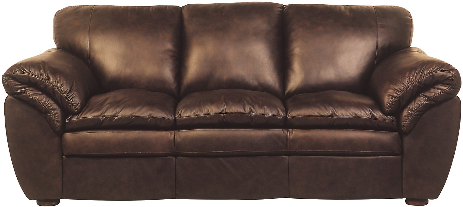 Brown 100 Genuine Leather Sofa United Furniture Warehouse