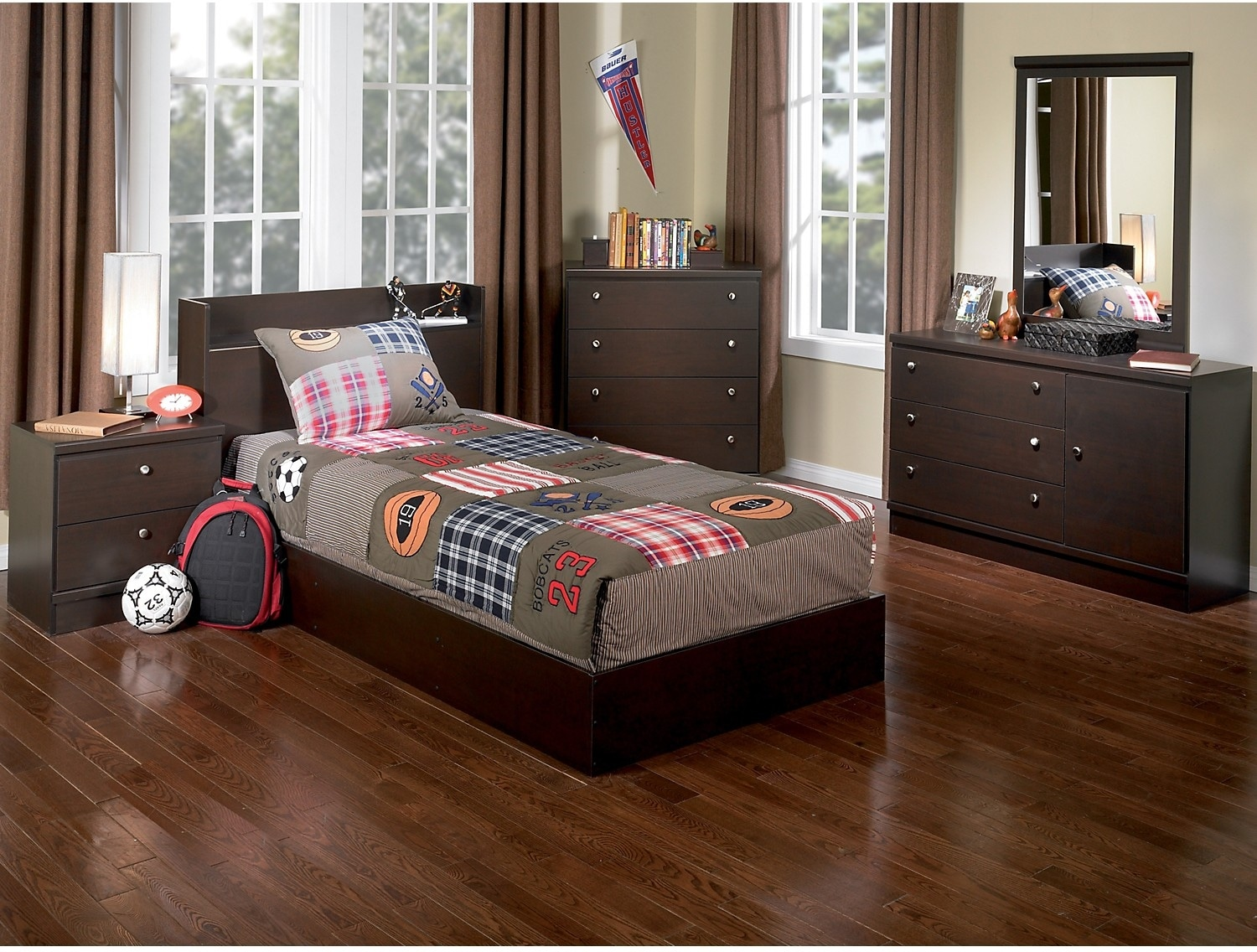 Kids Furniture - Big League 5-Piece Twin Bedroom Package