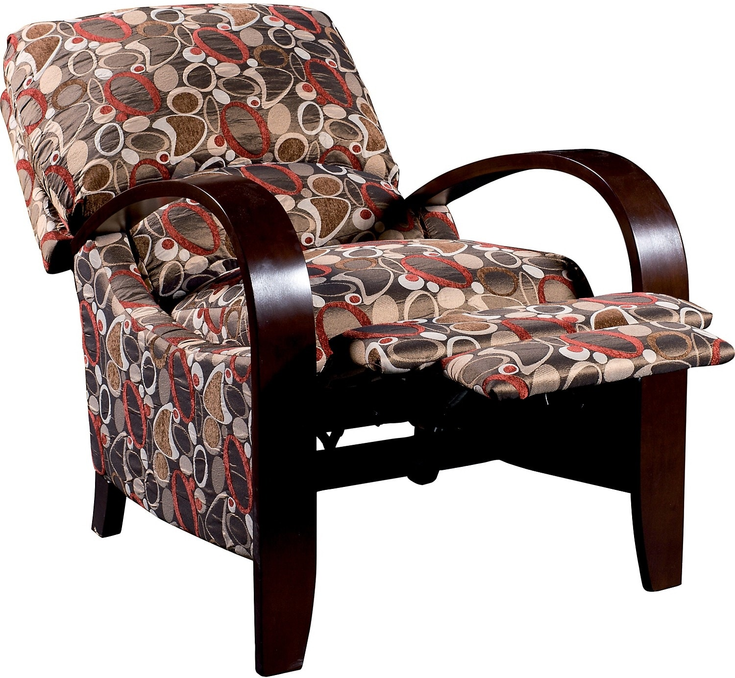 Aaron Reclining Fabric Accent Chair - Copper