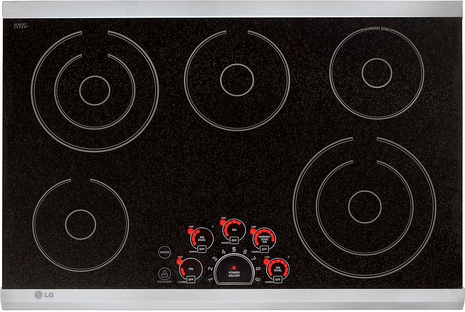 """Cooking Products - LG 30"""" Electric Radiant Cooktop - Stainless Steel"""