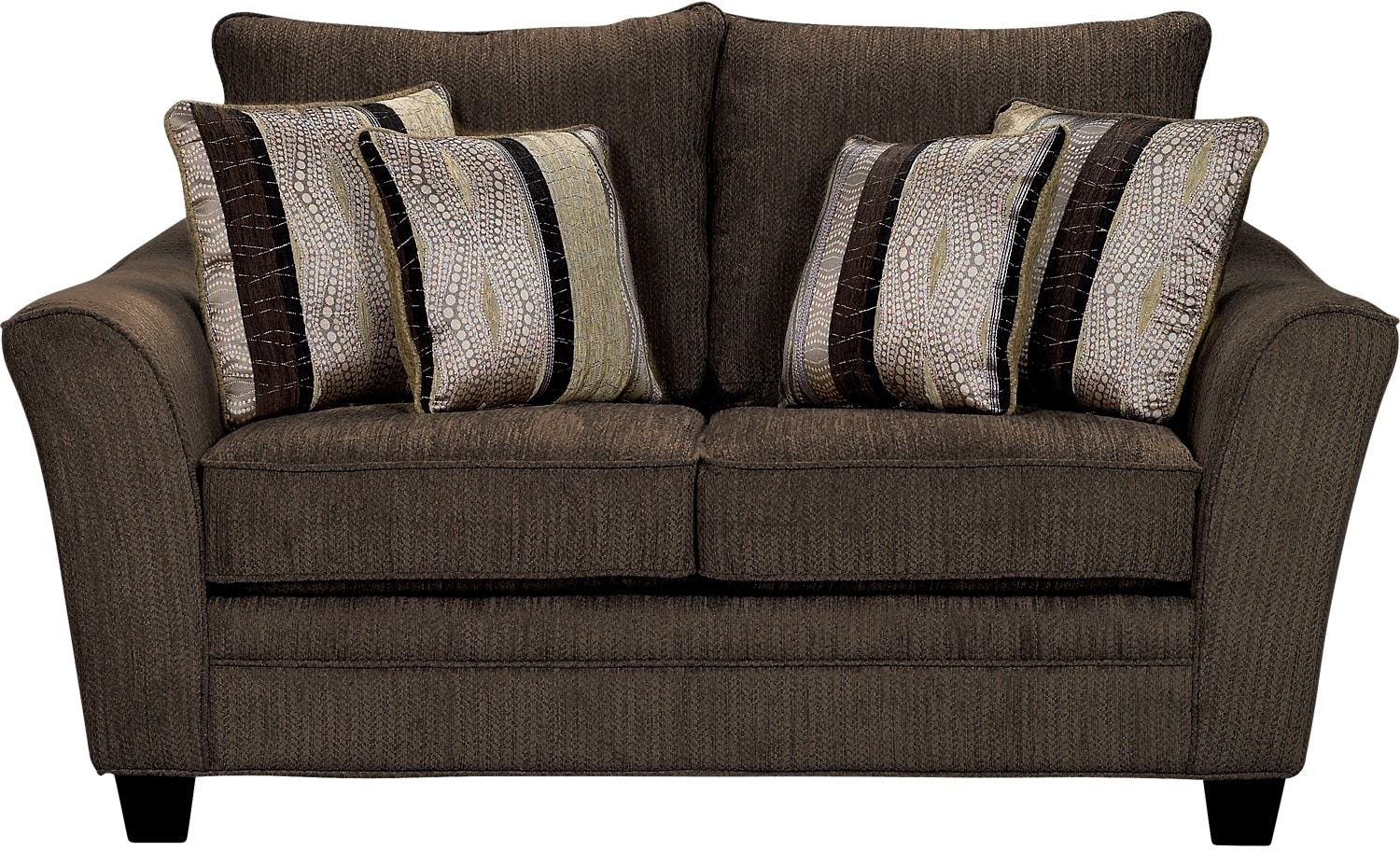 Living Room Furniture - Allen Chenille Loveseat – Chocolate