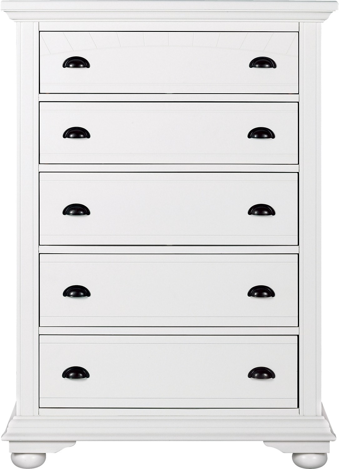 Bedroom Furniture - Brook Off-White Finish Chest