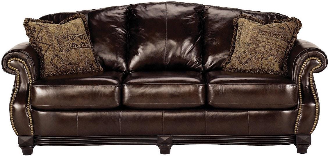 Prestige 100 Genuine Leather Sofa Brown The Brick