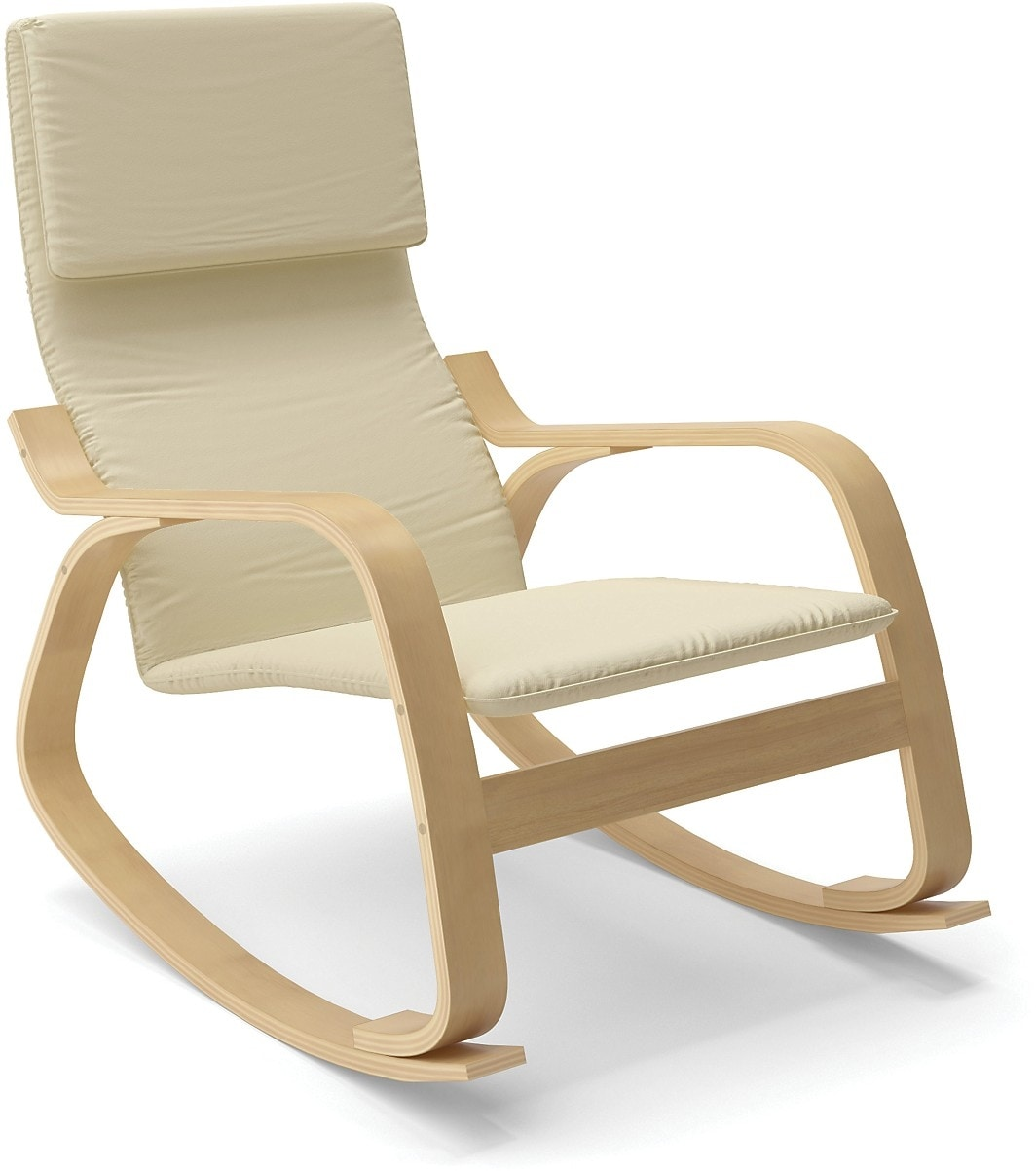 Volo Contemporary Rocking Chair – White