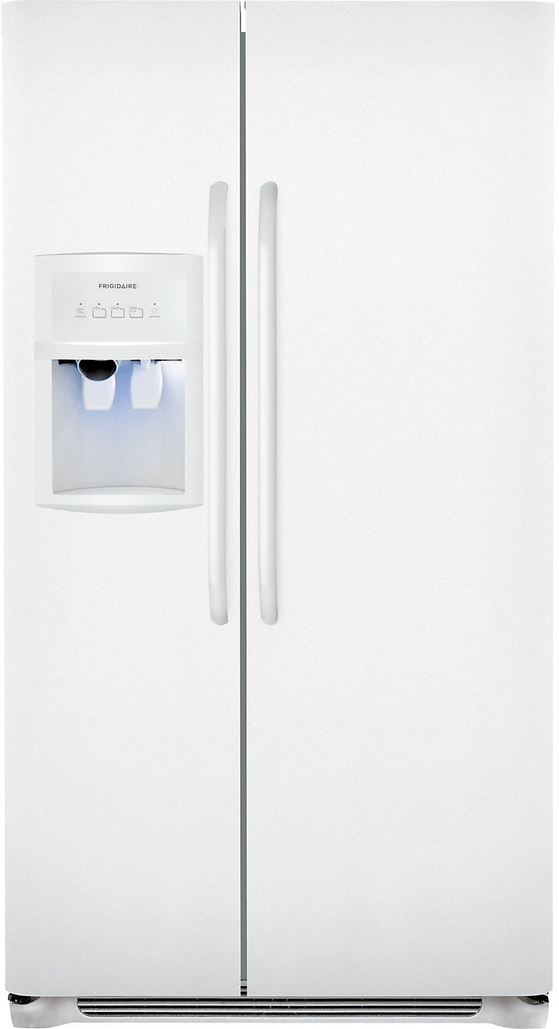 Refrigerators and Freezers - Frigidaire 23 Cu. Ft. Standard-Depth Side-by-Side Refrigerator - White