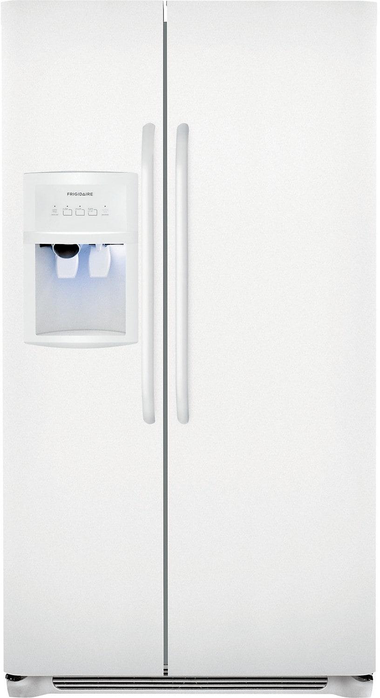 Refrigerators and Freezers - Frigidaire 23 Cu. Ft. Standard-Depth Side-by-Side Refrigerator - White